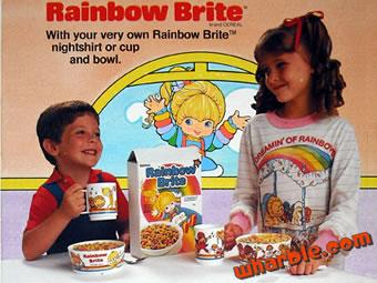 Rainbow Brite Cup & Bowl