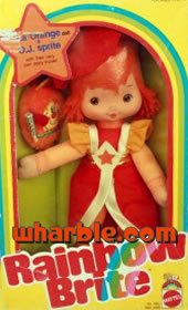 Rainbow Brite Doll Lala Orange