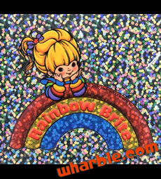 Rainbow Brite Glitter Sticker