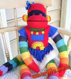 Rainbow Brite Sock Monkey