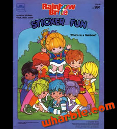 Rainbow Brite Sticker Book