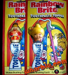 Rainbow Brite Toothpaste Topper