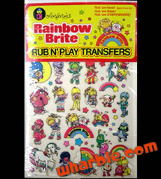 Rainbow Brite Rub n' Play Transfers