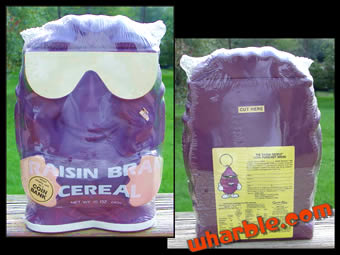 Raisin Bran Cereal Coin Bank