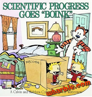 "Calvin and Hobbes Book - Scientific Progress Goes ""Boink"""