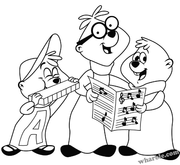 Alvin and the Chipmunks Coloring Pages |