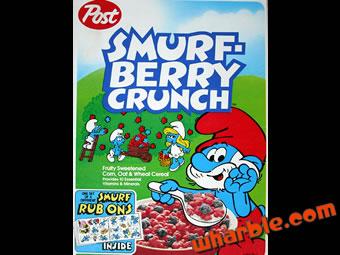Vintage Smurf Cereal