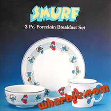 Smurf Breakfast Dishes