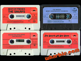 Smurf Cassette Tapes