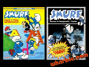 Smurfs ColecoVision Videogames