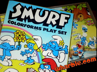 Smurf Colorforms