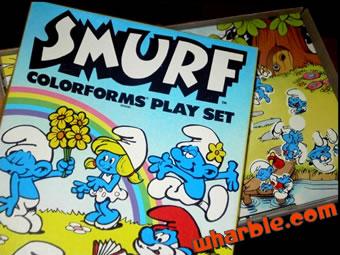 Smurf Colorforms