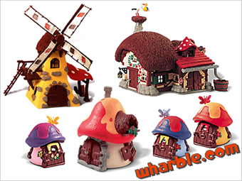 Smurfs Houses, Cottages & Buildings