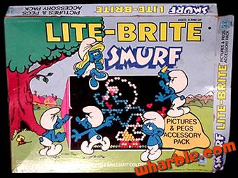 Smurf Lite-Brite