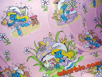 Smurfette bed sheets smurfette is pretty in pink the smurfette bedding