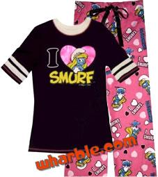 Smurfette PJ Sleepwear