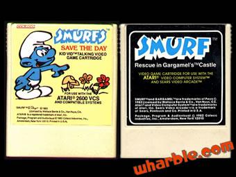 Smurfs Atari Videogames