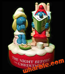 Christmas Smurf Music Box