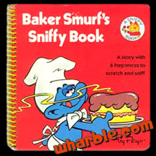 Baker Smurf Sniffy Book