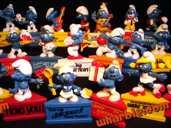 Smurfs on Stands