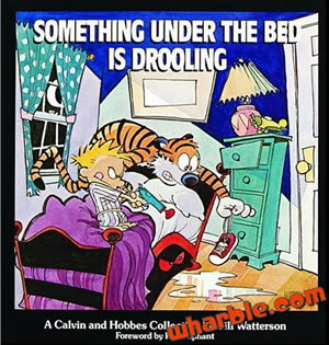 Calvin and Hobbes Book - Something Under the Bed Is Drooling