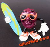 Surfboard California Raisin Figure