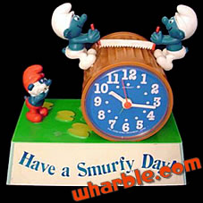 Talking Smurfs Alarm Clock