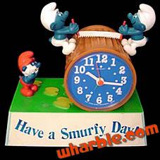 Talking Smurfs Alarm Clock