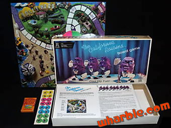 California Raisins Board Game