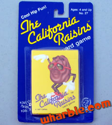 California Raisins Card Game