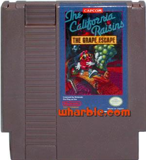 California Raisins NES Game Cartridge