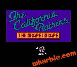 California Raisins: The Grape Escape