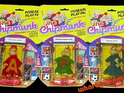 The Chipmunks Poseable Play Pals