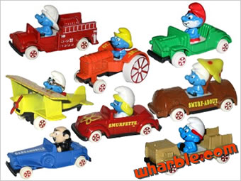 The Smurfs ERTL Cars