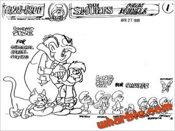 The Smurfs Model Sheets