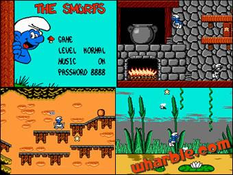 The Smurfs NES Screenshots
