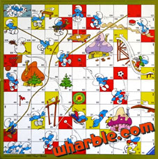 Smurf Snakes and Ladders