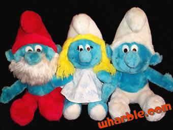 Vintage Plush Smurfs