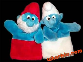 Vintage Smurf Puppets
