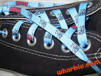 Smurf Shoelaces